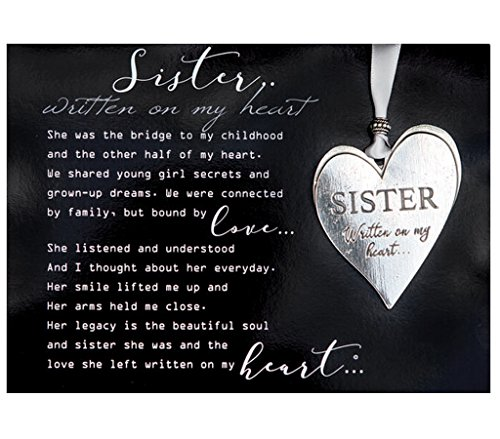 (Sister Pewter Memorial Heart Boxed Gift Ornament with Sentimental)