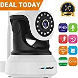 1080P WiFi IP Surveillance Camera - GENBOLT Pan Tilt Wireless Home Security Camera System with 40ft Night Vision,Pet Dog Nanny Baby Monitor Camera Indoor for Home Surveillance, 2-Way Audio Motion Detection Remote Webcam,SONY 1080P Sensor,Loop Recording,Instant Image Activity Alert,128GB Storage(Max Support),3dBi Antenna,355 Degree Super Wide View Angle (Wi-Fi Enhanced Version)