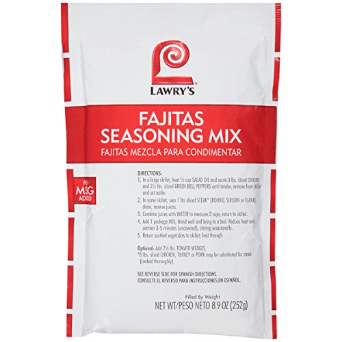 - Lawry's Fajitas Seasoning Mix, 8.9 oz