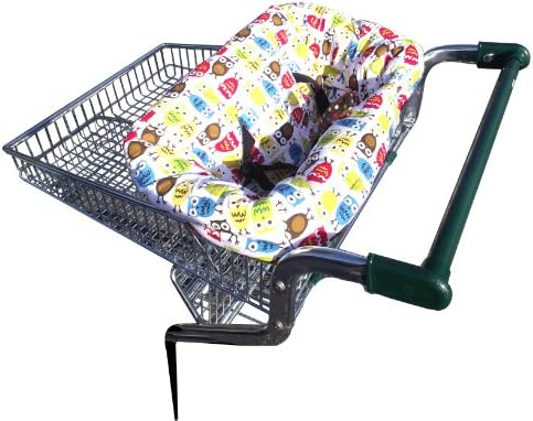 a cushioned seat to keep baby comfortable in a shopping trolley Bumfy