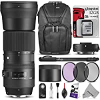 Sigma 150-600mm f/5-6.3 DG OS HSM Contemporary Lens and TC-1401 1.4x Teleconverter Kit for CANON EF w/ Advanced Photo and Travel Bundle