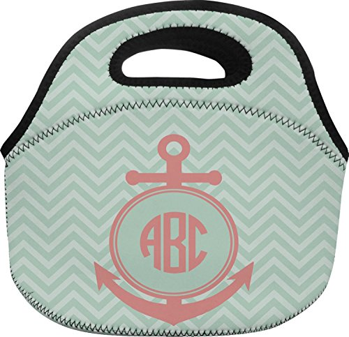 Chevron & Anchor Lunch Bag - Large - Custom Lunch Bag