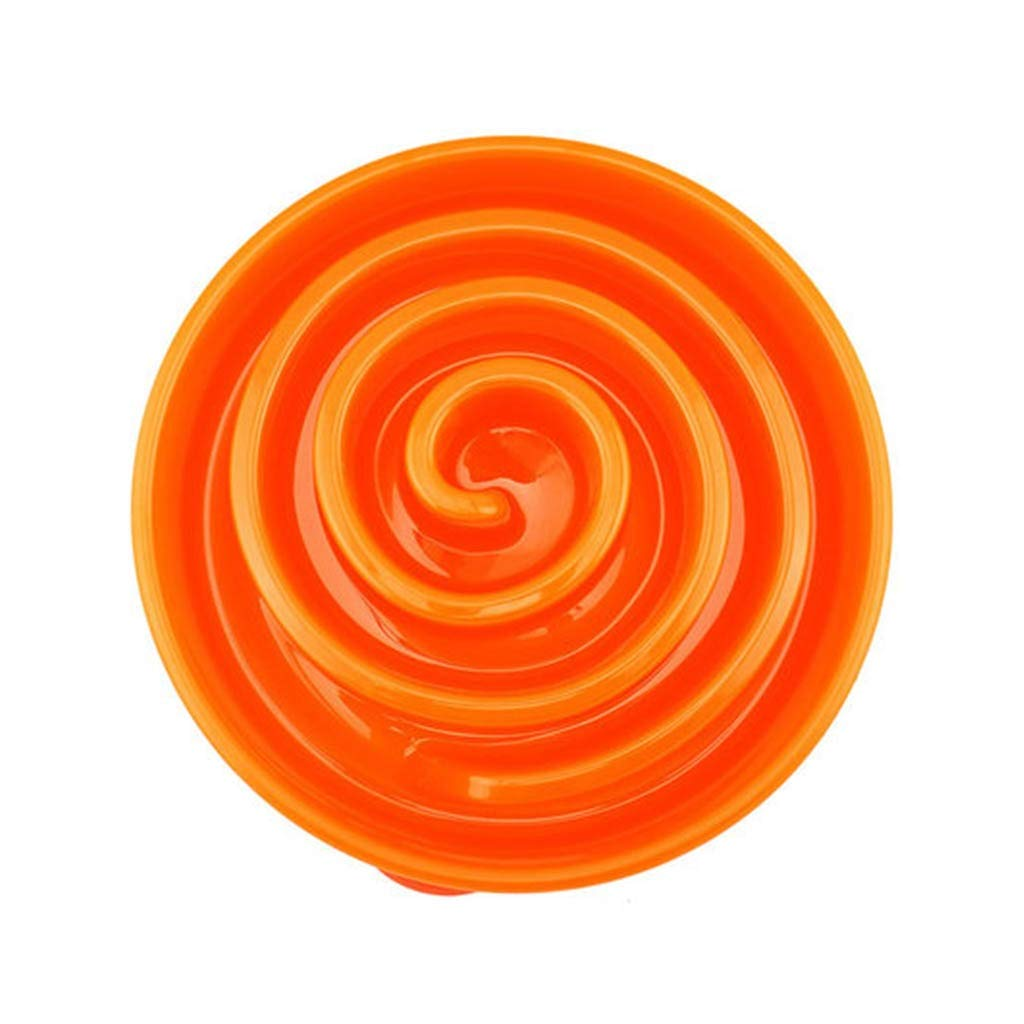Coral orange SMALL Coral orange SMALL FFLSDR Dog Bowl Dog Food Bowl Dog Bowl Slow Food Bowl Dog Bowl Pet Supplies Dog Slow Food Bowl (color   Coral orange, Size   SMALL)