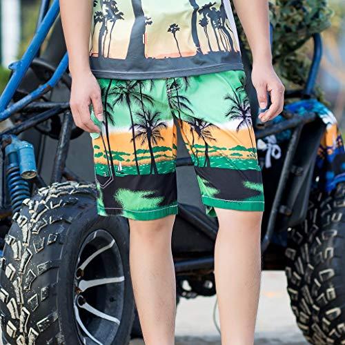 Rapide Natation Pantalon Court Running Vert Plage Hawaiian À Pour Trunks Séchage Surf De Hommes HHIq7FwU
