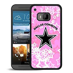 Fashionable And Unique Designed Case For HTC ONE M9 Phone Case With Dallas Cowboys Black