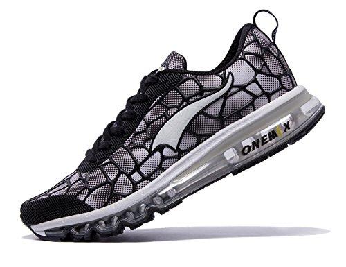 Onemix Hommes De Sport Coussin Dair Léger Chaussures De Course Noir / Blanc