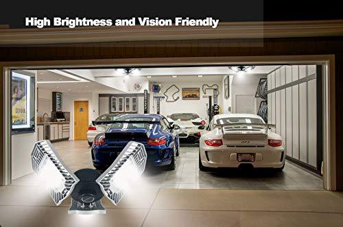 Garage Lights, 80W E26 8000 Lumens LED Garage Light, Deformable Garage Ceiling Lighting, Work Light for Garage, Barn, Workshop, LED High Bay Light Bulb. by Lead-Go (Image #4)