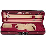 Muzip Violin Case, Full Size 4/4, Lightweight Professional Suspension Violin Case, Luxury Collection, 3 Colours (Red)