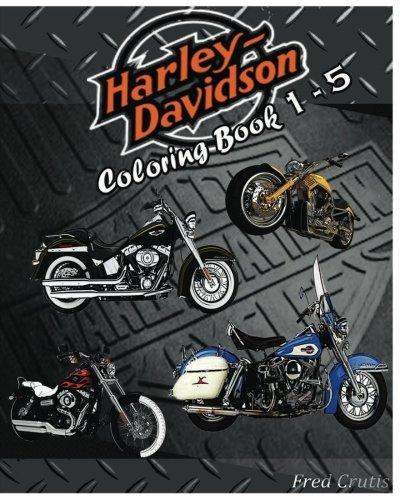 Read Online Motor : Harley-Davidson Coloring Book 1 - 5: coloring book pdf epub