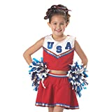 Patriotic Cheerleader Child Costume, Size Large