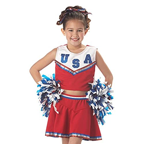 California Costumes Patriotic Cheerleader Child Costume Small  sc 1 st  Amazon.com & Cheerleader Costume: Amazon.com