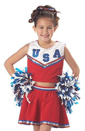 California Costumes Patriotic Cheerleader Child Costume, (High School Musical Cheerleader Costumes Adults)