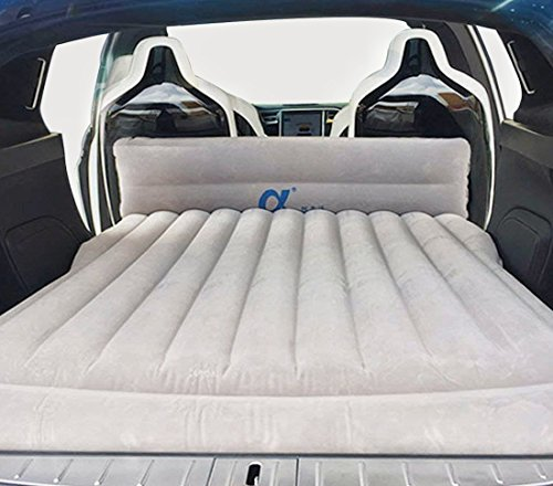 Topfit Car Inflatable Car Mattress,Camping Traveling Air Bed,Car Inflation Bed Extended Air Couch with 2 Air Pillows for Model X 6 Seat