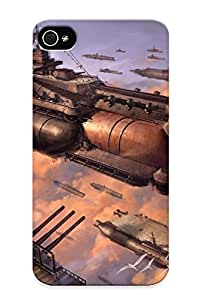 Ellent Iphone 4/4s Case Tpu Cover Back Skin Protector Steampunk Spaceships For Lovers' Gifts