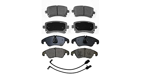 Prime Choice Auto Parts PERF65058784 Front Performance Drilled Slotted Brake Rotors and Ceramic Brake Pads