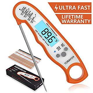 Instant Read Meat Thermometer, Digital Thermometer with Backlight and Calibration for Kitchen Food Cooking BBQ Grill
