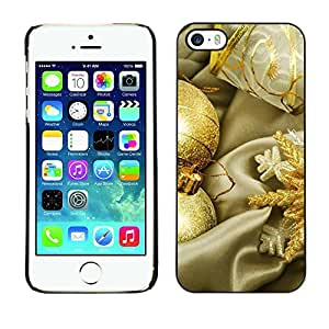 YOYO Slim PC / Aluminium Case Cover Armor Shell Portection //Christmas Holiday Gold Globes 1299 //Apple Iphone 5 / 5S