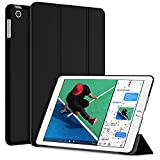 New iPad 2017 iPad 9.7 Case, JETech Slim-Fit Smart Case Cover for Apple the New iPad 9.7 Inch 2017 Model Lightweight with Stand and Auto Wake/Sleep (Black)