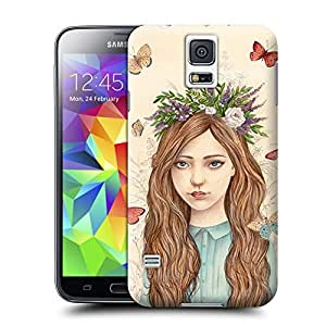 Unique Phone Case Innovation girl butterflies by ireneshpak Hard Cover for samsung galaxy s5 cases-buythecase