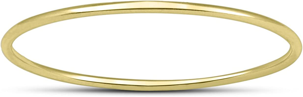 Amazon.com: Correa delgada de oro amarillo de 14 quilates ...