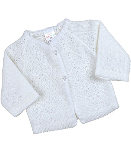 - BabyPrem Baby Cardigan Jacket Boy Girl Buttons Soft Knitted Newborn White