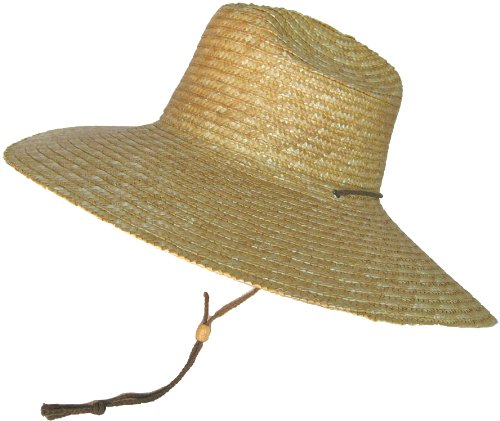 Super Wide Brim Lifeguard Hat Sewn Braid Straw Beach Sun Summer Surf Safari