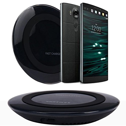 Price comparison product image Towallmark Qi Wireless Charger Charging Pad for LG V10 G4 G3 Nexus 4 5 7 (Black)