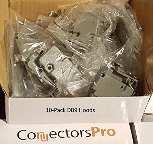 Pc Accessories - Connectors Pro 10-Pack DB9 Gray Plastic Hood DB-9/HD15 Connectors Short Screws, 10 Packs