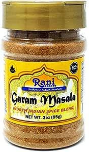 Rani Garam Masala Indian 11 Spice Blend 3oz (85g) Salt Free ~ All Natural | Vegan | Gluten Free Ingredients | NON-GMO | No Colors | Indian Origin