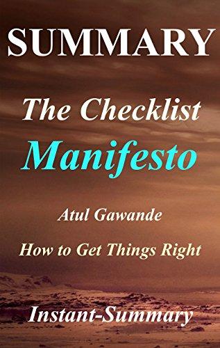 Summary - The Checklist Manifesto: by Atul Gawande