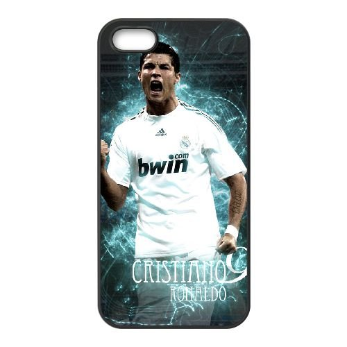 Cristiano Ronaldo 001 2 coque iPhone 5 5S cellulaire cas coque de téléphone cas téléphone cellulaire noir couvercle EOKXLLNCD22984