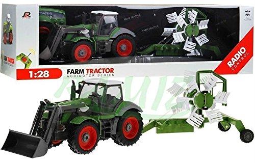 Traktor mit Anhänger QY8301I im Maßstab 1:28 - Ferngesteuertes Traktor inkl. Fernsteuerung - RC Farm Car - Farm Traktor mit abnehmbarem Anhänger BSD