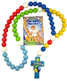 Multi Color Wooden Prayer Bead My First Rosary with Children of the World Cross, 18 Inch