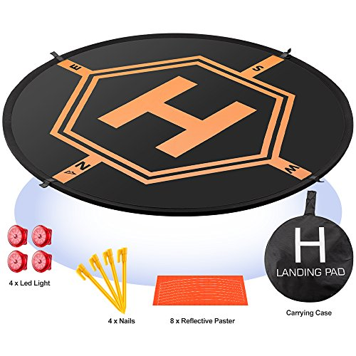 AURTEC Drone Landing Pad 4 LED Lights Included 32