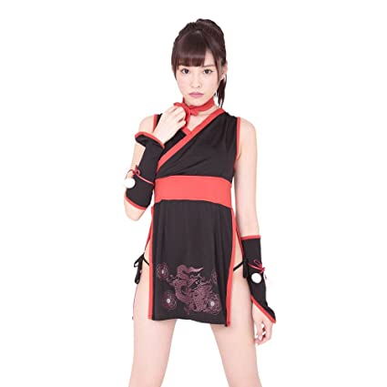 Sexy Princess Ninja Cosplay Costumes Black/Red (japan import ...