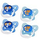Dr. Brown's PreVent Contour Pacifier, Stage 2 (6-12m), Polka Dots Blue, 4-Pack