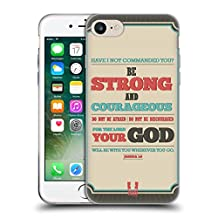 Head Case Designs Be Strong And Courageous Christian Typography Series 2 Soft Gel Case for Apple iPhone 5 / 5s / SE