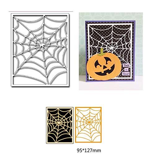 LySanSan - Metal Cutting Dies Stencil Carbon steel Die Scrapbooking Decor DIY Invitation Card Dies Stencil handicrafts Halloween spider web ()
