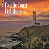 Lighthouses, Pacific Coast 2018 12 x 12 Inch Monthly Square Wall Calendar, USA United States of America West Coast Scenic Nature (English, French and Spanish Edition)