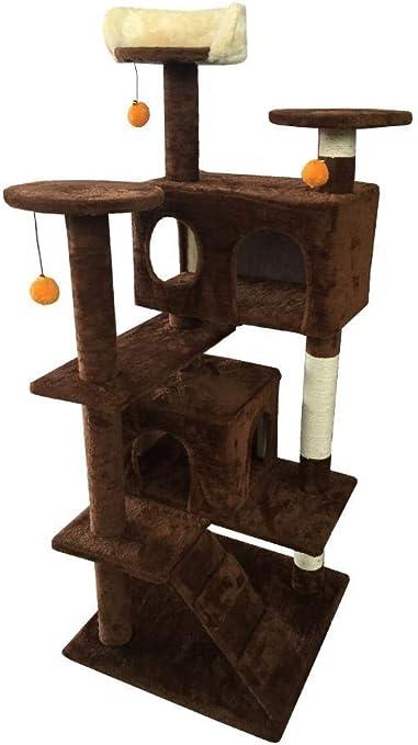 Meilandeng Árboles de Actividades para Gatos Gancho agarrador del Animal doméstico Gato Juguete Muebles Junta Gato Nido Cama casa Escalera 50 * 50 * 132 cm: Amazon.es: Hogar