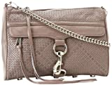 Rebecca Minkoff Mac Woven With Silver Hardware 10CEWMCRE2 Clutch,Lavender,One Size, Bags Central