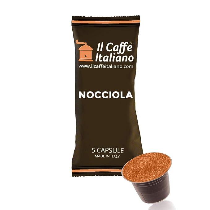FRHOME - 50 Cápsulas de Café compatibles Nespresso - Café aroma de Avellana - Il Caffè italiano