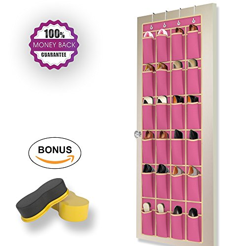 Rose Red Over the Door Shoe Rack by Organized Boss -