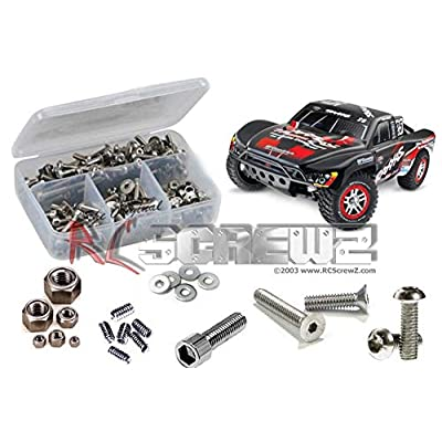 RCScrewZ Traxxas Slash 4x4 Stainless Steel Screw Kit, Complete Replacement for RC Car Rusted and Stripped Screws, Professional Race Quality Upgrade, Assembled in USA. tra039 for Traxxas Kit (6808/68086): Toys & Games