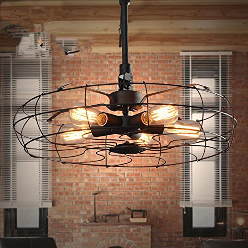 Retro Dark Rust Pendant (DGS Lron Pendant Lndustrial Nostalgic Fashion 5 Lamp Chandeliers Rust-Proof Living Room Restaurant Decoration Pastoral Retro Village Chandelier)