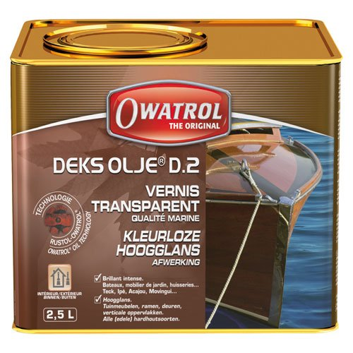 Deks Olje D2 (2.5 Liter) - Gloss Finish -  Owatrol, 842