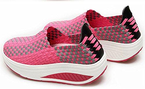 Vuxna Kvinnor Shape Ups Mesh Gå Fitness Skor Mode Sneakers Rosa