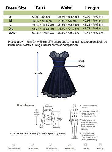 Retro Occasion mariage Dentelle Rockabilly Vintage de Soire Robe Cocktail de Femme Florale Bleu Robe Swing Robe 1950 TFUxEnq