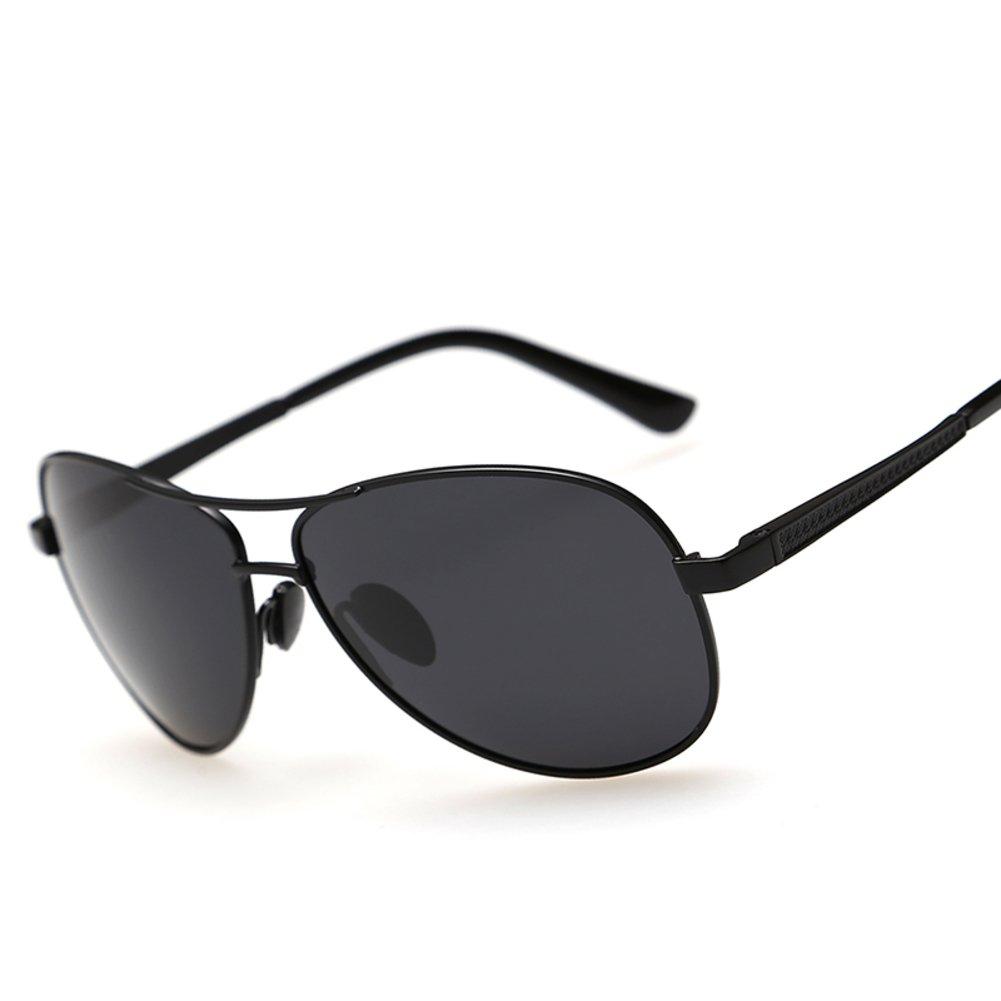 Lunettes de soleil pour homme/Conduite de polariseur/Miroir grenouille hipster/Lunettes de soleil rétro/Lunettes de soleil au volant-B v6C9SAn