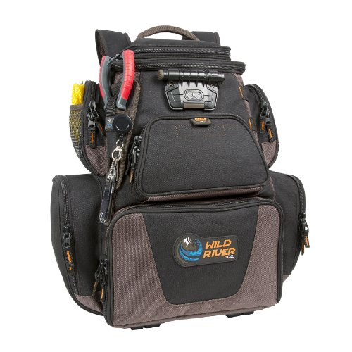 Wild River by CLC Custom Leathercraft WT3605 Tackle Tek Nomad XP Lighted Backpack with USB Charging System and Two PT3600 Trays Included by Custom Leathercraft